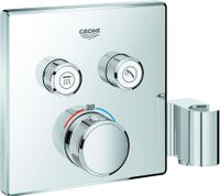 Grohe Thermostat GROHTHERM SMARTCONTROL eckig, 2 Absperrventile, Brausehalter chrom