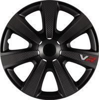 4 STK 15 Zoll VR black schwarz PETEX Radkappen Radzierblenden Satz PKW Auto