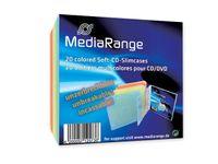 MediaRange Retail-Pack CD-Soft-Slimcase Color (5x4) - Slim Jewel Case für Speicher-CD - Kapazität: 1 CD - weiß, Blau, Gelb, orange, pink (Packung mit 20 )