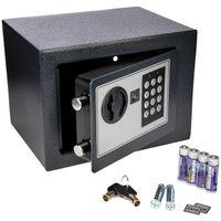 ONVAYA® Mini Tresor aus Stahl | 17 x 23 x 17 cm | Möbeltresor | Safe | Wandtresor mit Zahlenschloss | Geldtresor