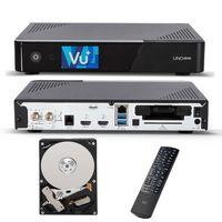 VU+ UNO 4K SE Digital Sat Receiver DVB-S2 Linux + 500 GB HDD Festplatte