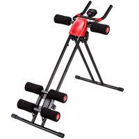 tectake Bauchtrainer mit Trainingscomputer - schwarz/rot