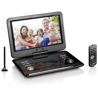 Lenco Tragbarer DVD-Player 29cm (11,6 Zoll) DVP-1273, DVB-T2 Tuner, 12V Kfz Adapter, USB, SD, AV, Farbe: Schwarz
