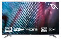 Yasin YT43FTB1 43 Zoll (108 cm) TV LED-Fernseher (Full HD, Triple Tuner, HEVC CI+, Mediaplayer via USB 2.0)