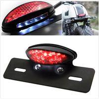 Motorrad 12V LED Hinterradbremse Kennzeichen Rücklicht Lampe Für Honda Cafe Racer