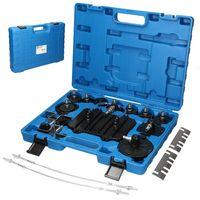 ECD Germany Anschluss Adapter Set 11 tlg. für Druckluft Breösenentlüfter Breösenentlüftungsgerät E20 Entlüftungsgerät Druckluft-Werkzeug