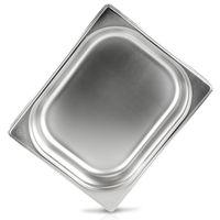 jokobela GN-Behälter 1/2 65 mm aus Premium-Edelstahl (4 L Fassungsvermögen) Maße: 325x265×65 mm - Gastronormbehälter ideal für Garen mit Chafing Dish oder Bain Marie (0,6 mm dick)