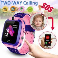 2G/3G SIM Wasserdichte Kinder Smartwatch Telefon Uhr Handy Tracker SOS Voice Chat Kamera