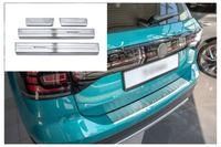 Ladekantenschutz und Einstiegsleisten für VW T-Cross Typ C1 ab Bj. 2018-, Farbe:Silber