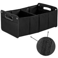 Kofferraum Organizer mit Klett | Upgrade4cars Auto Kofferraumtasche für Einkauf, Ordnung, Transport, Utensilien, Aufbewahrung | Universal Falt-Box