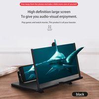 """12 """"Telefonvergrößerungsbildschirm, 3D HD Dünner faltbarer Handyverstärker Movie Video Phone Projektor Vergrößerer mit faltbarem Ständerhalter für alle Smartphones - Schwarz"""