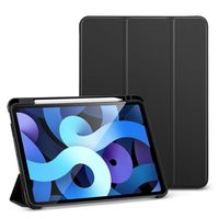 Kartokner Folio Hülle für iPad Air 10.9 2020(4.Generation) [Mit Stifthalter] [Weiche Flexible Hülle] [Trifold Ständer], Schwarz.