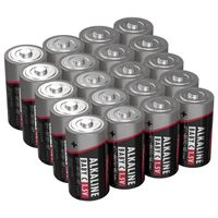 Ansmann Batterien Baby C LR14 20 Stück 1,5V - Alkaline Batterie langlebig & auslaufsicher - Ideal für Spielzeug, LED Taschenlampe, Radio, Modellbau uvm