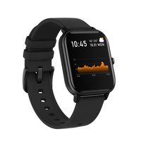 Levowatch L10 Smartwatch - dünn - IPX7 wasserfest - Puls Sport Fitness Uhr Smartband Armband Tracker Herren/Damen (schwarz)