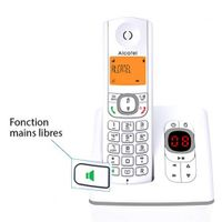 Alcatel F530 Schnurlostelefon mit zwei zusätzlichen grauen Hörern