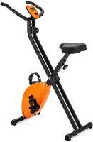 COSTWAY Ergometer mit 8 Widerstandsstufen und höhenverstellbarem Sitz, Fitnessfahrrad klappbar mit LCD Display, Heimtrainer Fahrrad bis 100kg belastbar