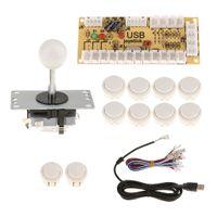 Null Verzögerung USB Encoder Board PC Controller Joystick DIY Kits für Arcade-Spiel weiß wie beschrieben