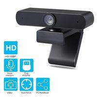 Webcam mit Mikrofon Desktop oder Laptop Widescreen für Videoanrufe und Aufnahme Black 1080P
