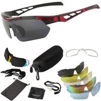 ONVAYA Polarisierte Sport Sonnenbrille Set mit 5 austauschbaren Gläsern 13 tlg. Sportbrille