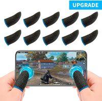 PUBG Mobile Game Finger Sleeve[10 Pack], Touchscreen Fingerhülse Atmungsaktiv Ultradünn Anti-Sweat Fingerset Empfindliche Shoot-&Ziel-Tasten für Überlebensregeln/Knives Out für Android & IOS (10 Pack)