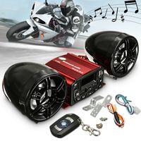 Motorrad Audio System Lautsprecher SD USB MP3 mit Fernbedienung Set DC12V IP65