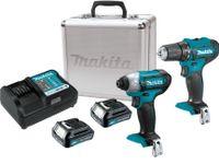 Makita COMBO WerkzeugSET DF333D + TD110D (2x1.5Ah Koffer) Bohrschrauber Schlagschrauber