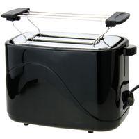2 Scheiben Toaster SCHWARZ Doppelt Toast Toastautomat Küchenzubehör inklusive Brötchenwärmer