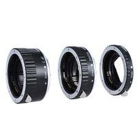 Andoer buntes Metall TTL Autofokus AF Makro Verlängerungsrohrring für Canon EOS EF EF-S 60D 7D 5D II 550D Silber