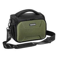 """PEDEA DSLR-Kameratasche """"Guard"""" Fototasche für Spiegelreflexkameras mit wasserdichtem Regenschutz, Tragegurt und Zubehörfächern, Gr. XL grün"""
