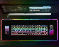 XXL RGB Gaming Mauspads Groß Mausunterlage für Computer PC Mousepad CS Mauspads 300*800*4MM,schwarz