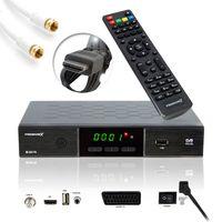PremiumX HD 520 FTA Digital SAT Receiver DVB-S2 HDMI SCART Antennenkabel weiß