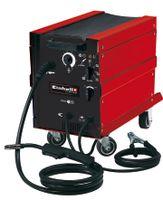 Einhell TC-GW 190 D Schutzgas-Schweissgerät; Schlauchpaket inkl. Schweißbrenner; Massekabel inkl. Masseklemme; Kette zur Gasflaschenbefestigung; Schutzgasschlach; Druckminderer mit 2 Manometer; Adapterkabel; Schweißschirm