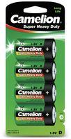 4x Camelion R20 / Mono / D 1,5 Volt  / LR20 Batterien