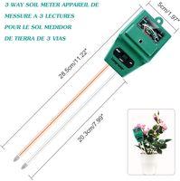 Guangcailun 3 in 1 Boden-pH-Meter Blumentopf Hygrometer Soil Tester Pflanzen Wachstum Moisture Lichtintensit/ät Detector