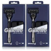 Gillette MACH3 Rasierer Limited Edition Rasierer mit Klinge & Ständer (2er Pack)