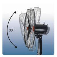 Honeywell HSF1630E4, Haushalts-Lamellenlüfter, Schwarz, Flur, 51 dB, 3498 m³/h, 90°