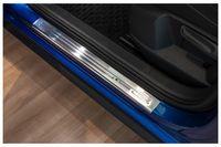 Exclusive Design V2A Einstiegsleisten für VW Polo 6 2G ab Bj. 2017-, Farbe:Silber