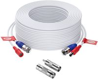 ZOSI 30 Meter Video Strom Kabel BNC Verlängerungskabel für CCTV 4K 5MP 1080P DVR Überwachungskamera System, Mit BNC RCA Adapter