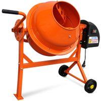 vidaXL Betonmischer Elektrisch 63 L 220 W Stahl Orange