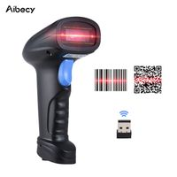Aibecy Handheld 2.4G Wireless 1D / 2D / QR-Barcode-Scanner Barcode-Leser mit USB-Empfaenger 4000 Code-Speicherkapazitaet fuer POS-PC Android IOS