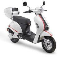Elektroroller LuXXon E3000 - Elektro Scooter mit 3000 Watt, max. 45 km/h, Reichweite bis zu 55 km, weiß