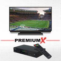 PremiumX SAT Anlage 80cm Antenne Single LNB Kabel F-Stecker Receiver