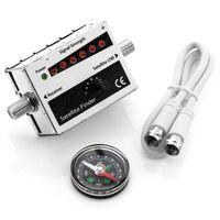 deleyCON Satfinder Satellitenfinder SAT Messgerät mit LED Anzeige und Signalton Satelliten Finder mit Kompass LNB Spiegel Antenne Ausrichten