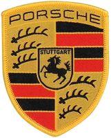 Original PORSCHE Wappen AUFNÄHER 53 x 65mm LOGO 718 911 964 993 964 996 997 991 Boxster Cayenne Macan Panamera