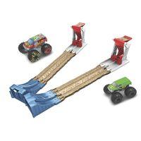 Hot Wheels Monster Truck Doppel-Rampe inkl. 2 Spielzeugautos, Spielset