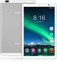 TOSCIDO Tablets 10 Zoll - 5G WiFi, Android 10.0, Octa Core 1.6 Ghz, 1920 x 1200 FHD, 64GB ROM, 4GB RAM, 13MP und 5MP Kamera, 4G Dual SIM/WiFi/Bluetooth 5.0/GPS, Batterie  6000 mAh, Typ C, P101, Farbe: Silber