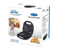 Elta Edelstahl Sandwichtoaster Sandwichmaker Sandwich Toaster Maker Grill 750 W