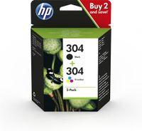 HP 3JB05AE Tintenpatronen schwarz/3-farbig No. 304