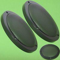 2 Stück Lautsprecherziergitter 165mm schwarz Lautsprecher Schutzgitter Paar (1)