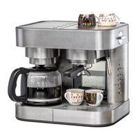 Kaffee/Espresso Center EKS 3010 ElPresso Duo deluxe, Kaffeemaschine: Glaskanne für 10 Tassen Filterkaffee, Filtereinsatz 1 x 4,  Warmhalteplatte, Espressomaschine: 19 Bar Pumpendruck, elektronische Bedienung, programmierbare Tassenfüllmengen